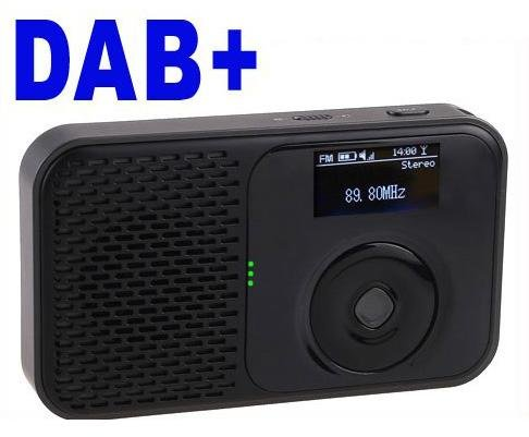 Mini Pocket DAB DAB+ FM Radio MP3 Recorder Alarm Clock free shipping