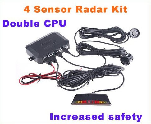 Car Backup Reverse Radar Kit/car reversing/auto sensor parking systems free shipping