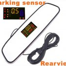 4 Parking Sensors Car Backup Reverse Radar Rearview Mirror car parking system