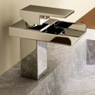 Chrome Single Handle Waterfall Bathroom Sink Faucet(W22204) Free Shipping
