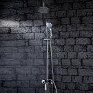 Wholesale 6 inch Chrome Rainshower Shower suit with Handshower and Shower Heads(D998) Free Shipping