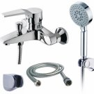 Wholesale Chrome Shower suit with Hand Shower&Shower Faucet(N2570) Free Shipping