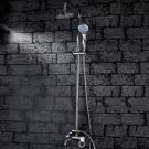 Wholesale 6 inch Chrome Rainshower Shower suit with Handshower and Shower Heads(D1004) Free Shipping
