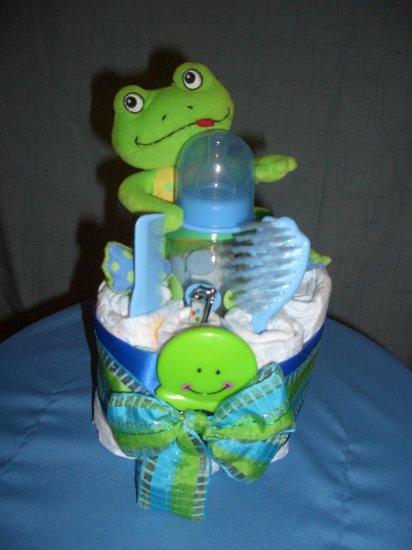Macy Baby Cake Cute Frog Cupcake diaper cakes