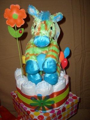 Macy Baby Cake Diaper Cakes Jazzy Zebra
