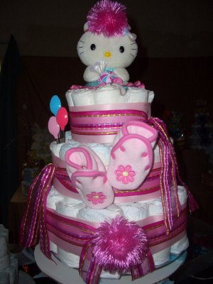 Macy Baby Cake Kitty Diaper Cake Sweet Baby Collection