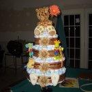 Diaper Cake 4-tier Macy baby cake