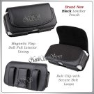 for LG VX8700 VX 8700 BLACK CELL PHONE LEATHER HOLSTER