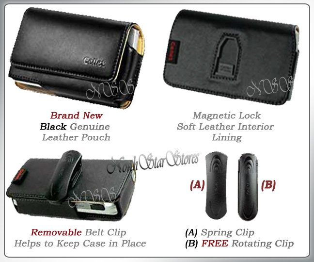 for SAMSUNG INSTINCT M800 CELL PHONE LEATHER CASE POUCH