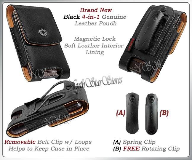 AT&T APPLE iPHONE 3G 3GS S LEATHER CASE POUCH BELT CLIP