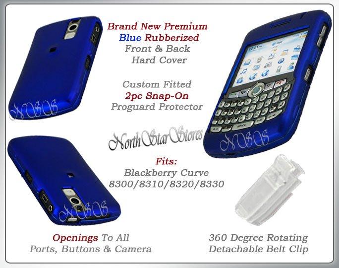 BLACKBERRY BB CURVE 8310 8320 8330 BLUE COVER CASE SKIN
