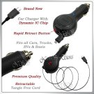 for VERIZON LG DARE VX9700 RETRACTABLE FAST CAR CHARGER