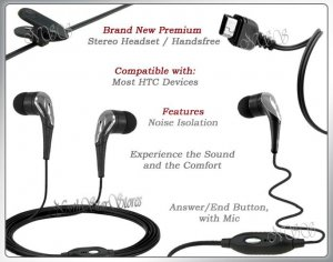 for SPRINT HTC TOUCH DIAMOND HEADPHONES STEREO HEADSET