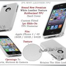 for APPLE iPHONE 4 4S AT&T SPRINT VERIZON WHITE SILICONE GEL TPU CASE COVER SKIN