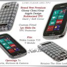 for NOKIA LUMIA 710 TMOBILE ARGYLE PLAID TPU GEL CANDY SILICONE CLEAR CASE COVER