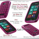 for NOKIA LUMIA 710 TMOBILE ARGYLE PLAID TPU CANDY SILICONE PINK CASE COVER SKIN