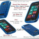 for NOKIA LUMIA 710 TMOBILE ARGYLE PLAID TPU CANDY SILICONE BLUE CASE COVER SKIN