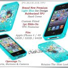 for APPLE iPHONE 4 4S SPRINT VERIZON BLUE SLIM TPU SILICONE GEL CASE COVER SKIN