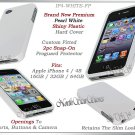 for APPLE iPHONE 4 4S ATT SPRINT VERIZON WHITE HARD SNAP-ON SLIM CASE COVER SKIN