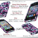 for APPLE iPHONE 4 4S ATT SPRINT VERIZON HARD BLACK WHITE PINK SKULLS CASE COVER