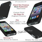 for APPLE iPHONE 4 4S AT&T SPRINT VERIZON HARD BLACK RUBBERIZED CASE COVER SKIN