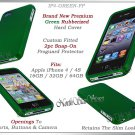 for APPLE iPHONE 4 4S AT&T SPRINT VERIZON HARD GREEN RUBBERIZED CASE COVER SKIN