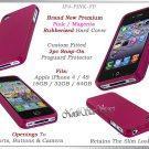 for APPLE iPHONE 4 4S 4G ATT SPRINT VERIZON HARD PINK RUBBERIZED CASE COVER SKIN