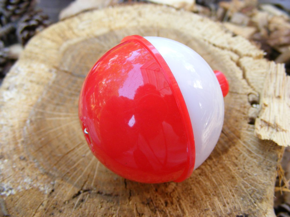 Red And White Fishing Bobber Micro Geocaching Container