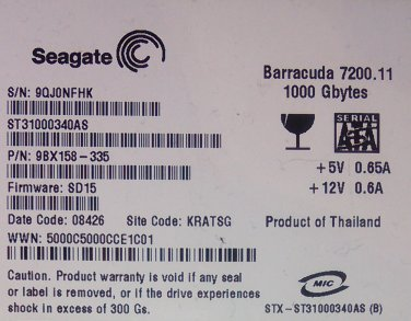 ST31000340AS (for data recovery parts)