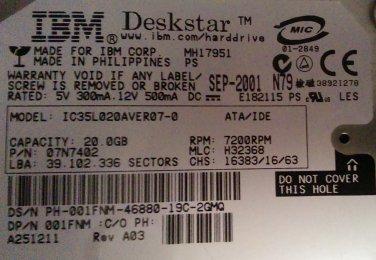 IBM Deskstar IC35L020AVER07-0
