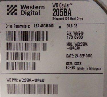 WD205BA-00AGA0  (EIDE)