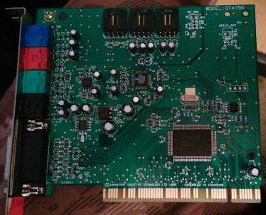 Creative Labs CT4750 Sound Blaster PCI 128 Sound Card