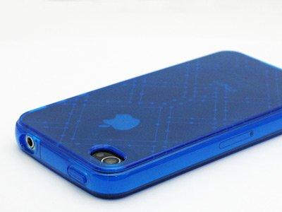 Crystal TPU Skin for Apple iPhone 4 - Blue