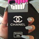 iPhone 5, 5s, 5se. Pink Chanel style Cigarette box case for iPhone.