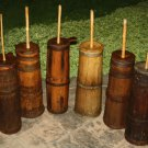 Antique  Primitive Staved Wooden Butter Churns