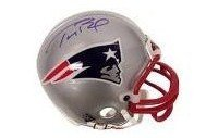 TOM BRADY NEW ENGLAND PATRIOTS SIGNED AUTOGRAPHED MINI HELMET MATCHING HOLOGRAMS NUMBERS AND COA