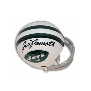 JOE NAMATH NEW YORK JETS SIGNED AUTOGRAPHED MINI HELMET MATCHING HOLOGRAMS NUMBERS AND COA