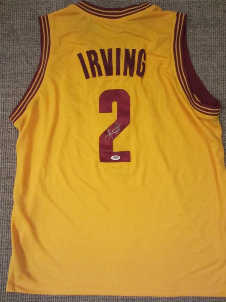 Kyrie Irving Cleveland Cavaliers Hand Signed Autographed Jersey PSA/DNA COA