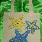 Yellow & Blue Starfishes Tote Bag