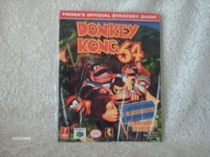 Donkey Kong 64 Offical Strategy Guide w/Poster for Blockbuster [Paperback]