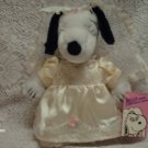 "Rare Peanuts Snoopy Sister Belle Bride 10"" Plush Toy Wearing Wedding Bridal Dress"