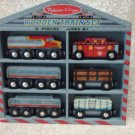 Melissa and Doug Wooden Train Cars Set