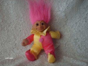 """6.5"""" Russ Berrie Soft Body Clown/Jester Troll"""