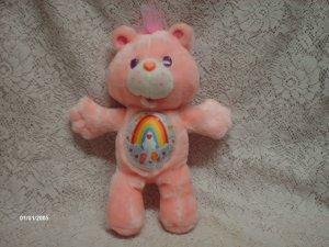 "13"" 1991 Cheer Bear  Care Bear Plush Toy"