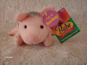 "7"" 1998 BABE PIG PLUSH TOY"