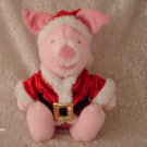 "12"" Santa Holiday Piglet Disney Store plush"