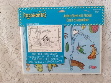 Disneys Pocahontas Activity Sheet With Stickers