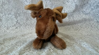 "1978 R Dakin 10"" moose plush toy"