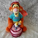 "13 ""Disney ""Happy Birthday"" Musical Wind Up Tigger Plush Toy"