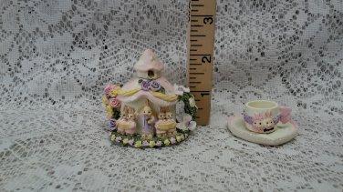Mini Rabbit Wedding Tea Set